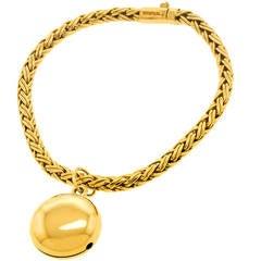 Tiffany Russian Braid Bracelet with Bell Charm