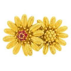 Tiffany & Co. Double Flower Brooch
