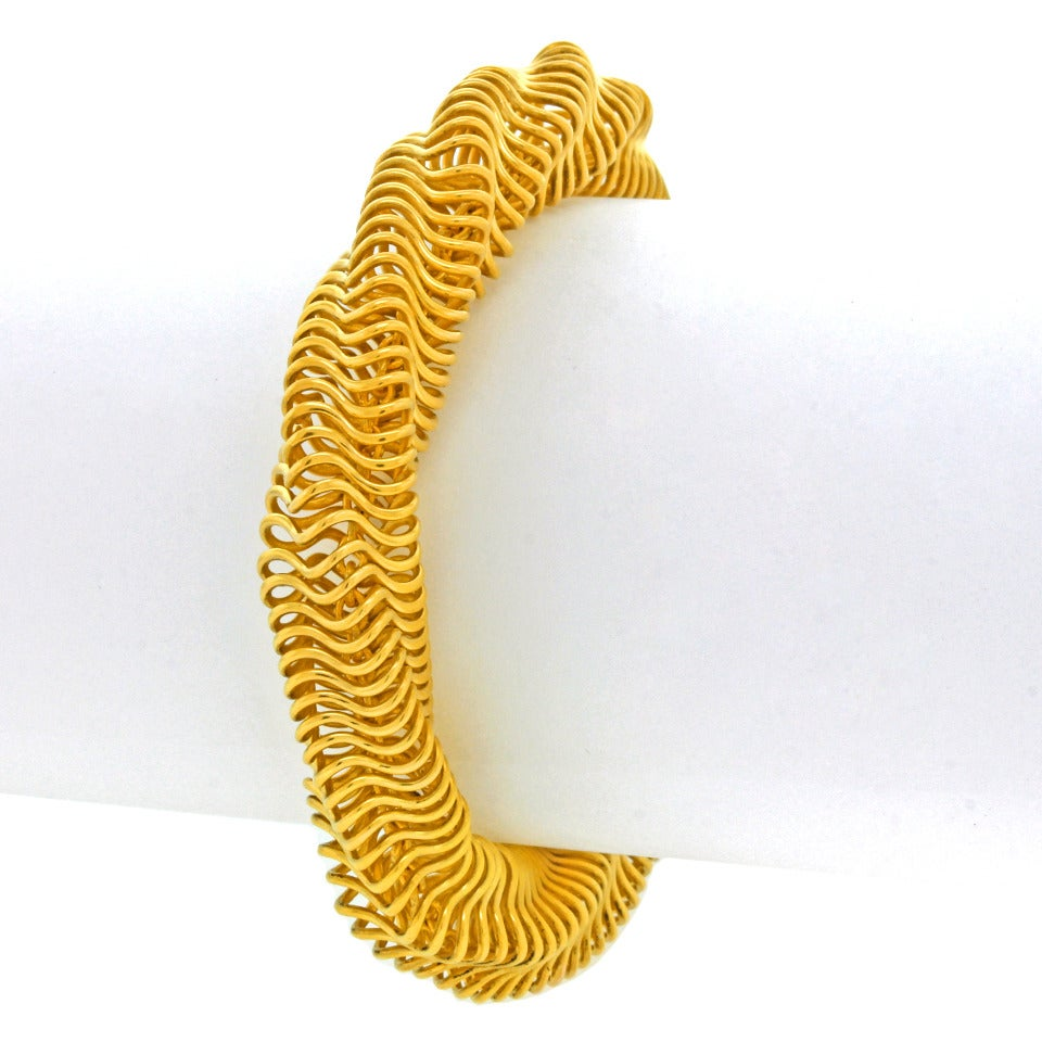 Boucheron Modernist Gold Bracelet For Sale 3