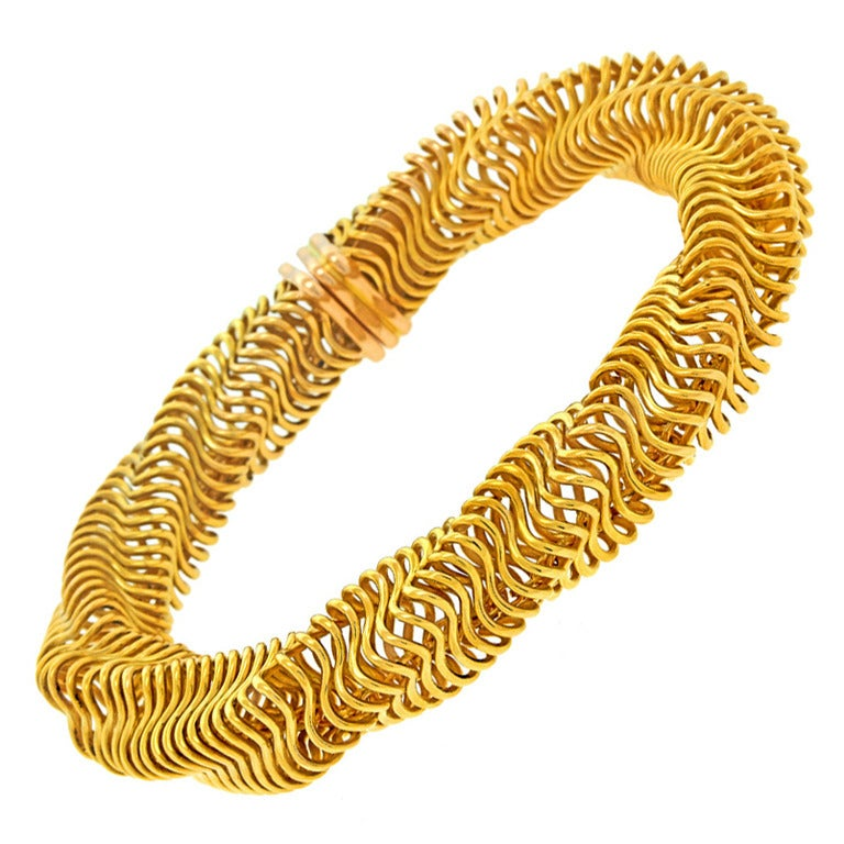 Boucheron Modernist Gold Bracelet For Sale 5