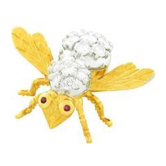 Herbert Rosenthal Diamond-Set Gold Bee Pin