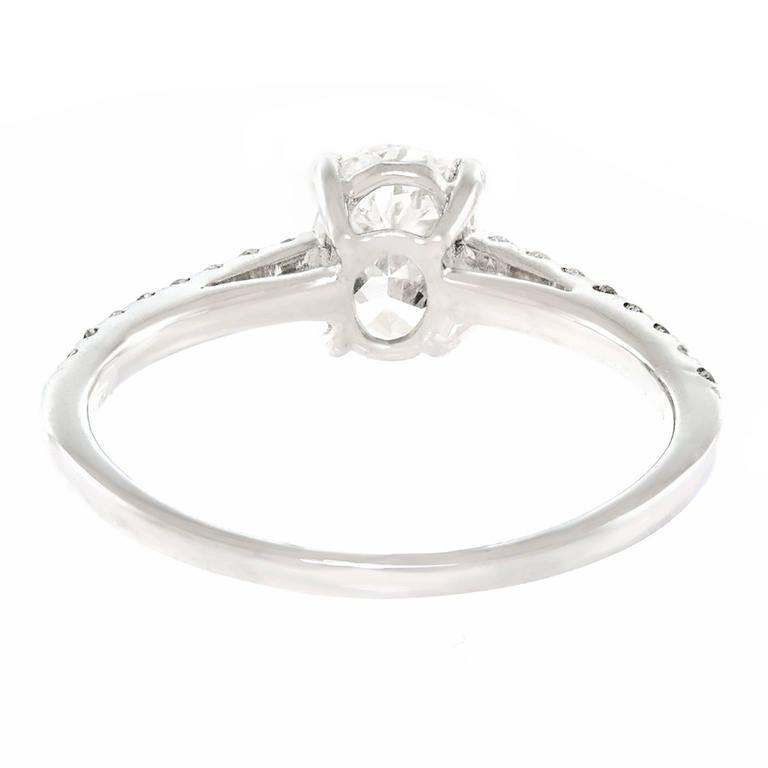 .84 Carat GIA Cert Oval Diamond Gold Engagement Ring For Sale 5