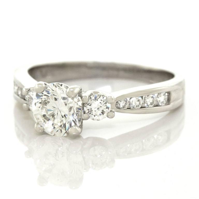 beautiful 1 0 carat platinum engagement ring for sale