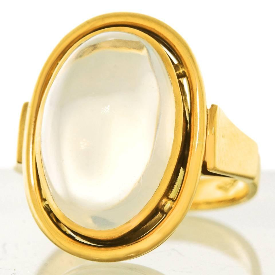1950s moonstone gold ring at 1stdibs