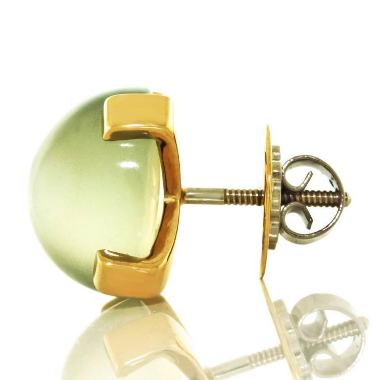 Modernist Moonstone Earrings in Gold 7