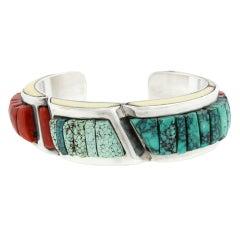 Victor Beck Modernist Navajo Sterling Bracelet