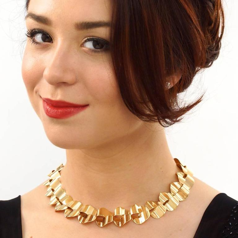 Modernist Gold Necklace by Menrad Burch 2