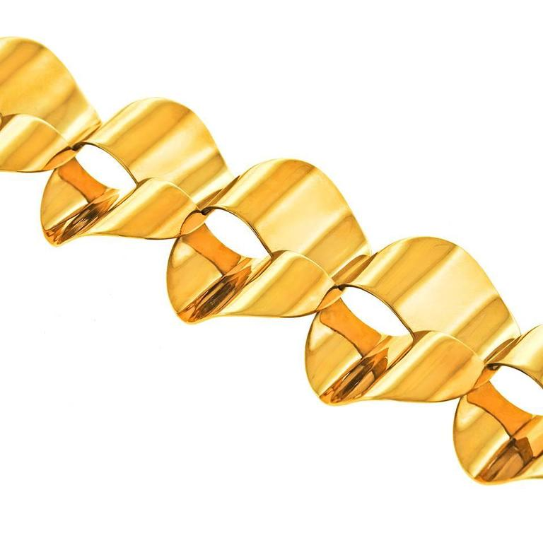 Modernist Gold Necklace by Menrad Burch For Sale 3