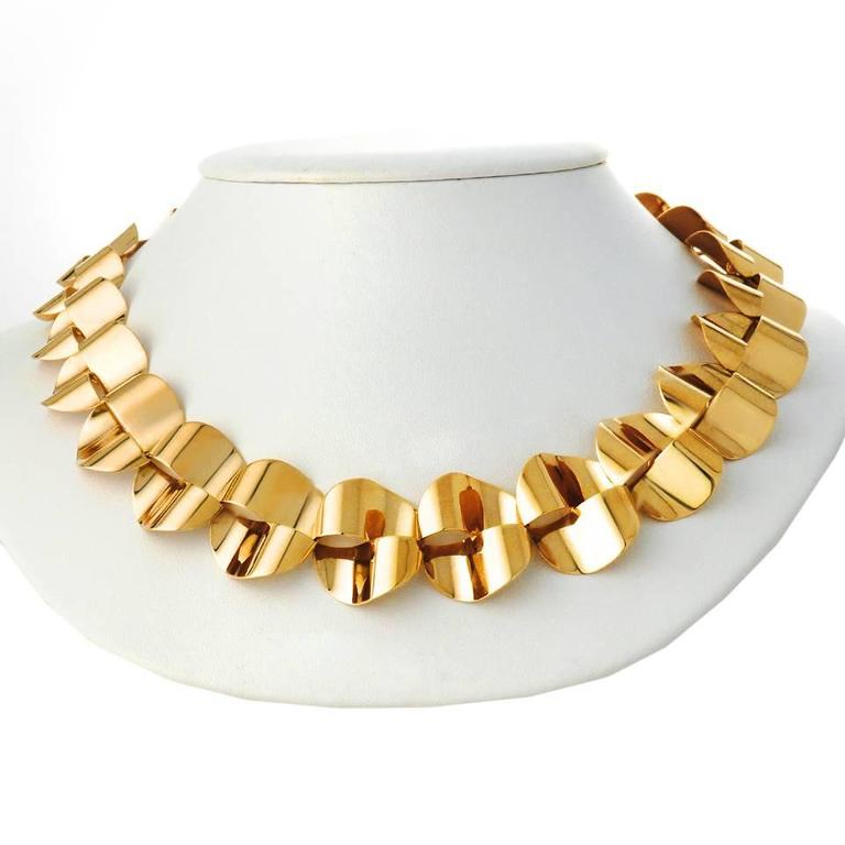 Modernist Gold Necklace by Menrad Burch 8