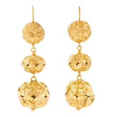 Victorian Chandelier Earrings in Gold