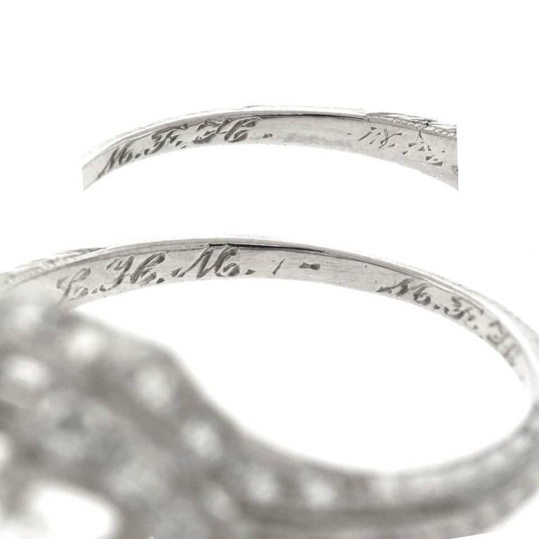 Art Deco 1.68ct Diamond Platinum Engagement Ring For Sale 1