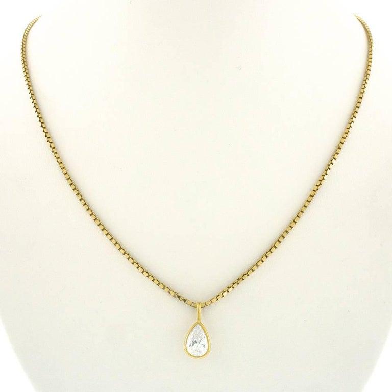 2.45 Carat Pear-Shaped Diamond Pendant 8