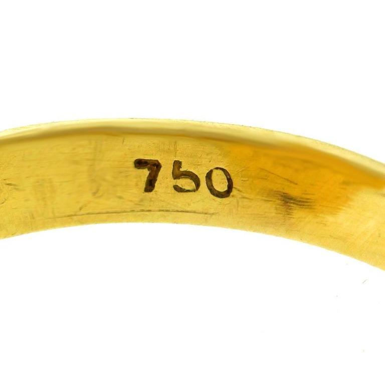 1960s Natural Coral Yellow Gold Ring 5