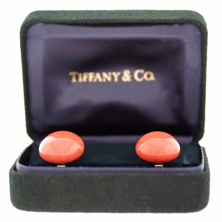 Tiffany & Co. Natural Coral Earrings in Gold GIA Report 3