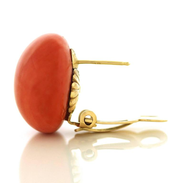 Tiffany & Co. Natural Coral Earrings in Gold GIA Report 7