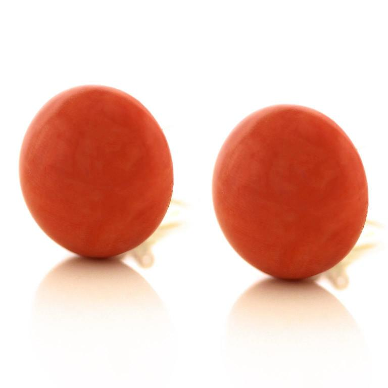 Tiffany & Co. Natural Coral Earrings in Gold GIA Report 9