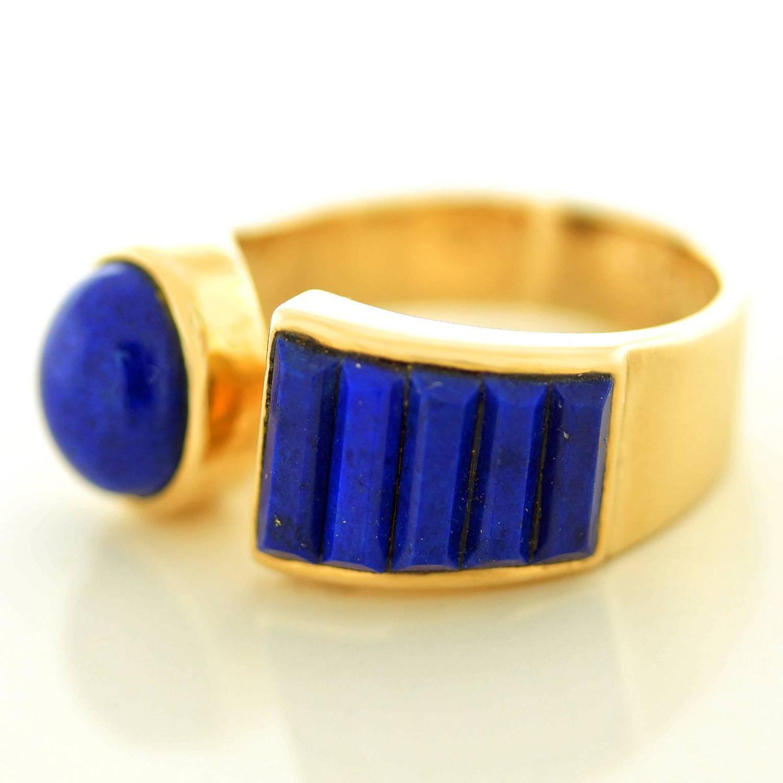 erte lapis gold ring at 1stdibs