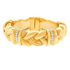 Fabulous Diamond and Yellow Gold Bracelet