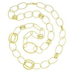 "Ippolita ""Glamazon"" Long Gold Chain Necklace"