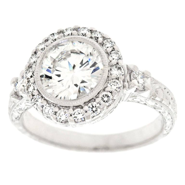 1.78 Carat Diamond Ring GIA For Sale