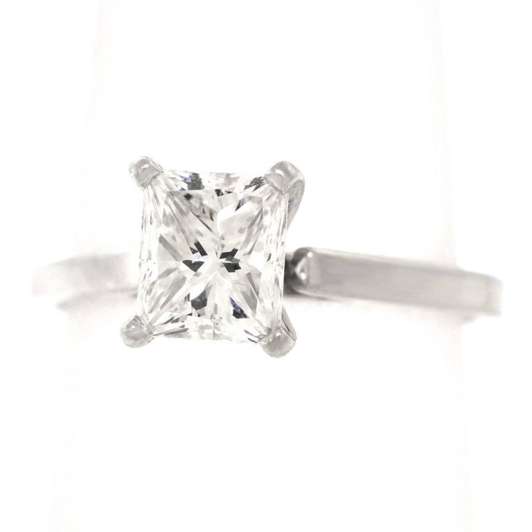 1 20 carat princess cut platinum engagement ring