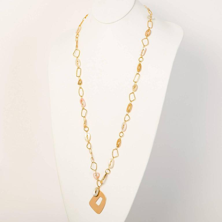 Mattioli Mother-of-Pearl Rose Gold Puzzle Necklace For Sale 4