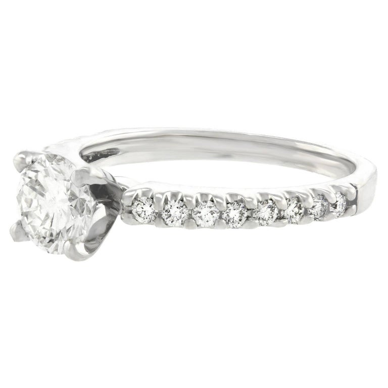 .76 Carat Diamond White Gold Engagement Ring For Sale 3
