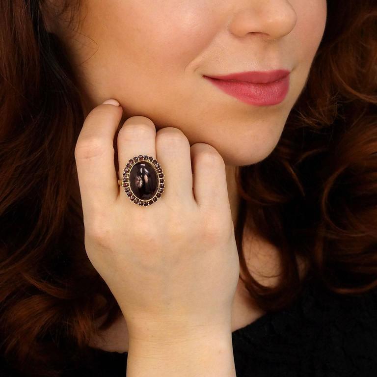 Fabulous Bohemian Garnet Gold Ring 4