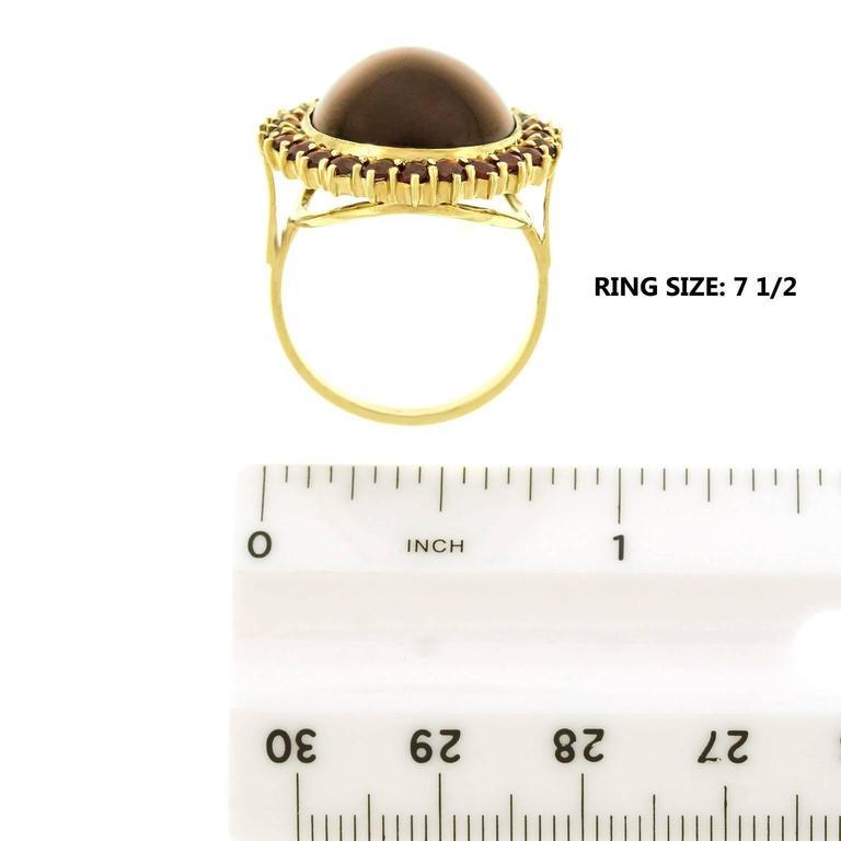 Fabulous Bohemian Garnet Gold Ring 6