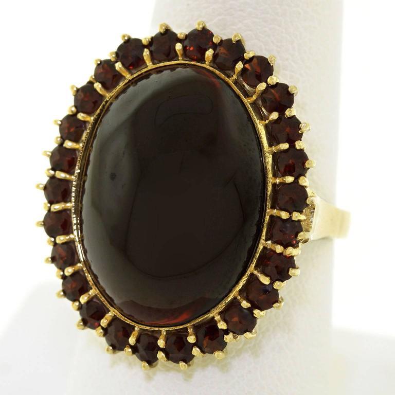 Fabulous Bohemian Garnet Gold Ring 7