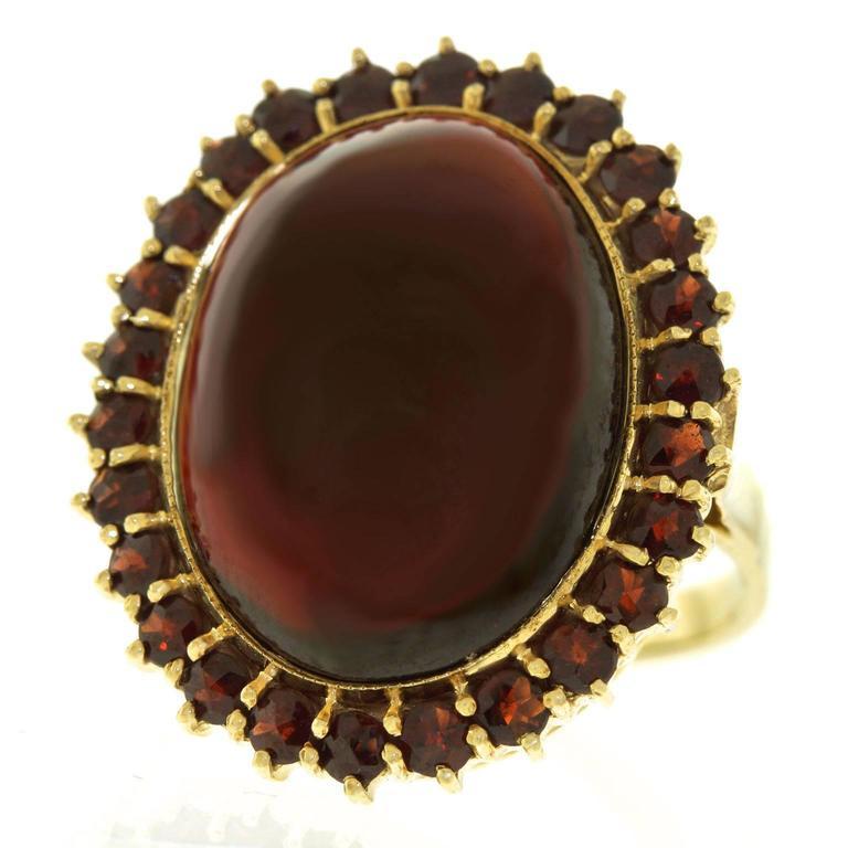 Fabulous Bohemian Garnet Gold Ring 1