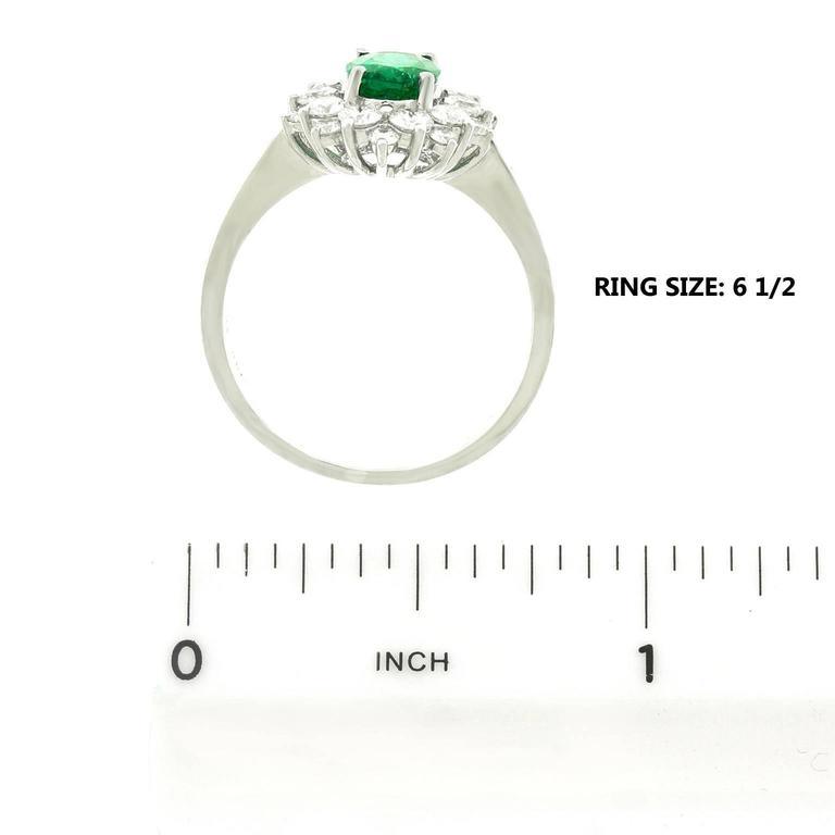 Vibrant Emerald Diamond Gold Ring 6