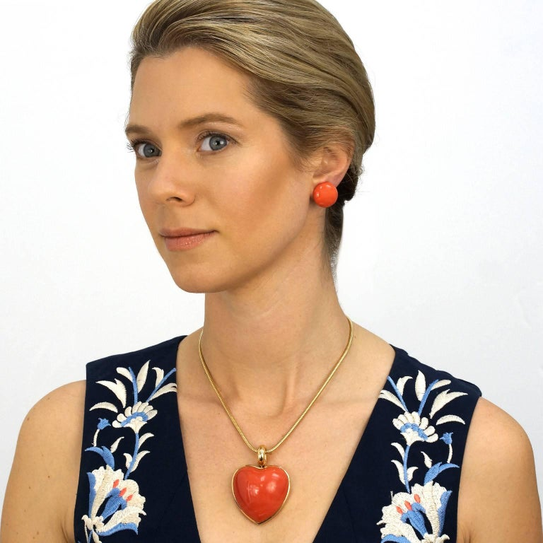 Large Natural Coral Earrings 2