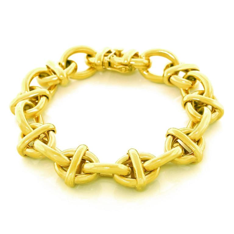 Tiffany & Co. Fabulous Chunky Gold Anchor Link Bracelet 6