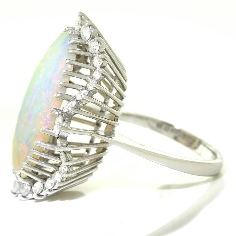 Superb Opal and Diamond White Gold Ring 3