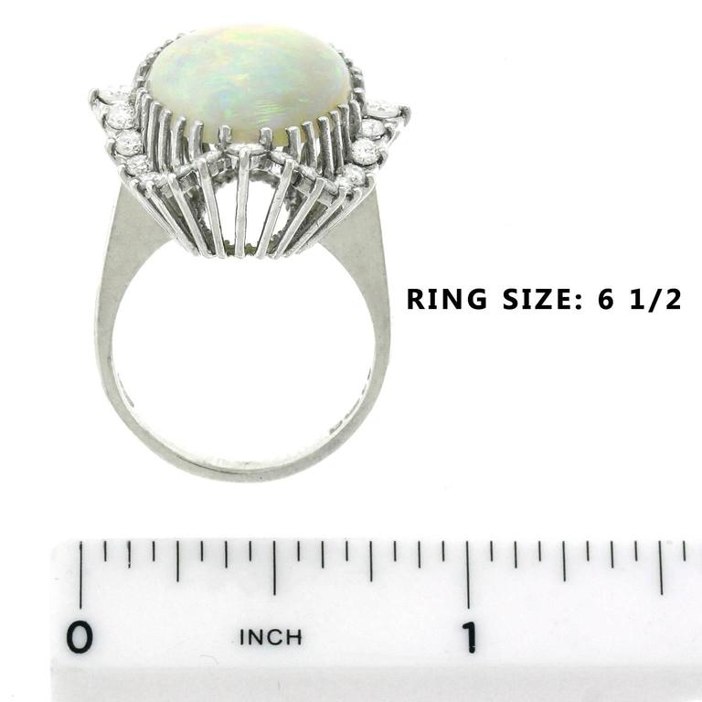 Superb Opal and Diamond White Gold Ring 6