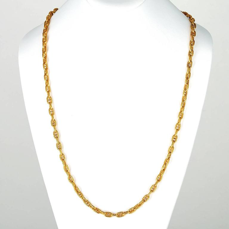 Tannler of Zurich Gold Anchor Chain Link Necklace 3