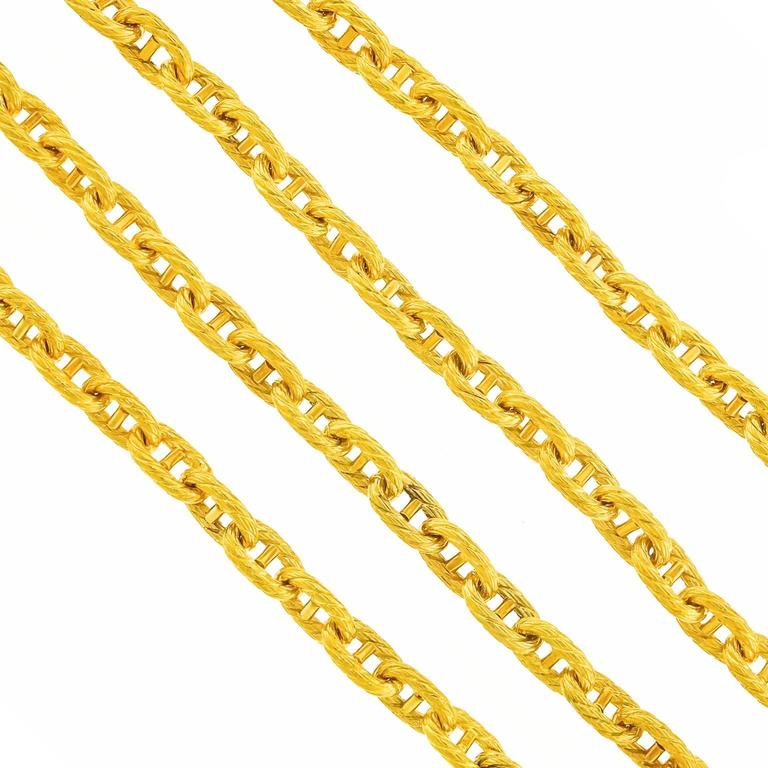 Tannler of Zurich Gold Anchor Chain Link Necklace 7