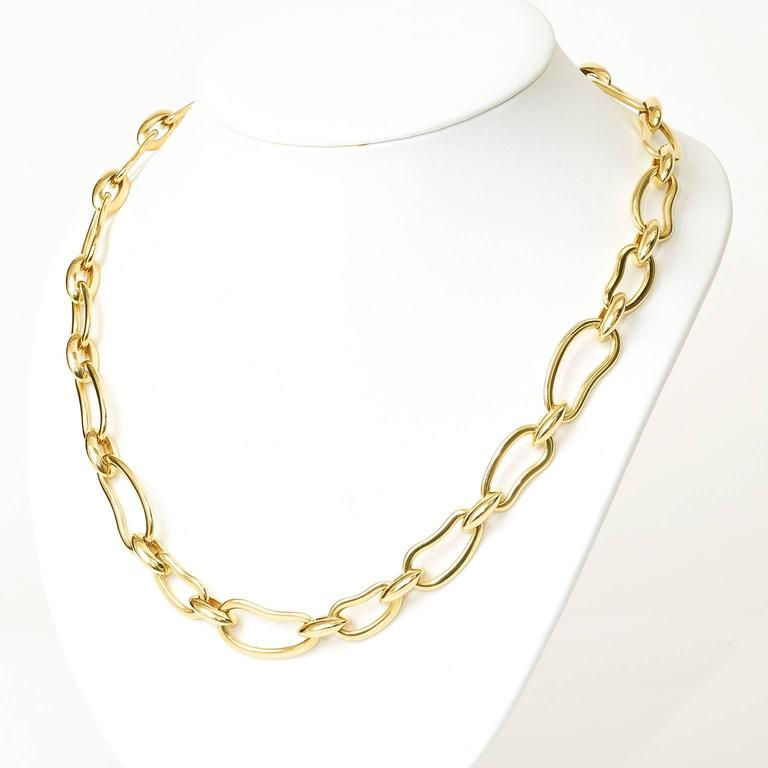 "Pomellato ""Paisley"" Pattern Gold Necklace 8"