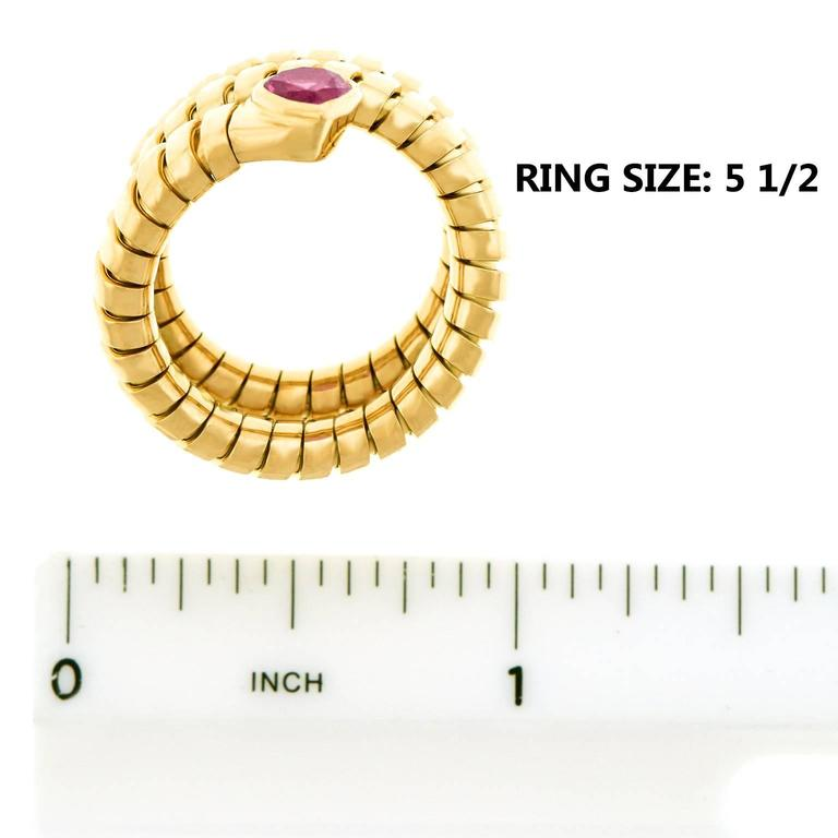 Bulgari Yellow Gold Serpenti Tubogas Ring For Sale 2
