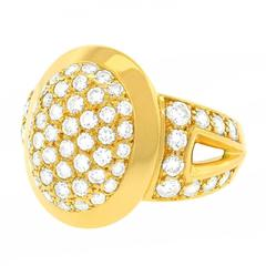 Iconic Cartier Diamond Pave Cigar Band Ring