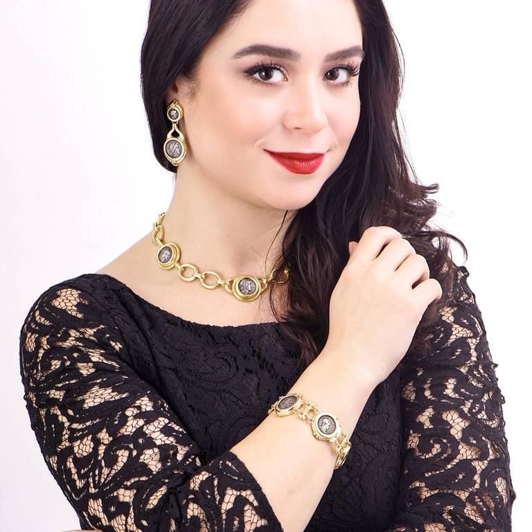 Elizabeth Locke Ancient Coin Gold Necklace 2