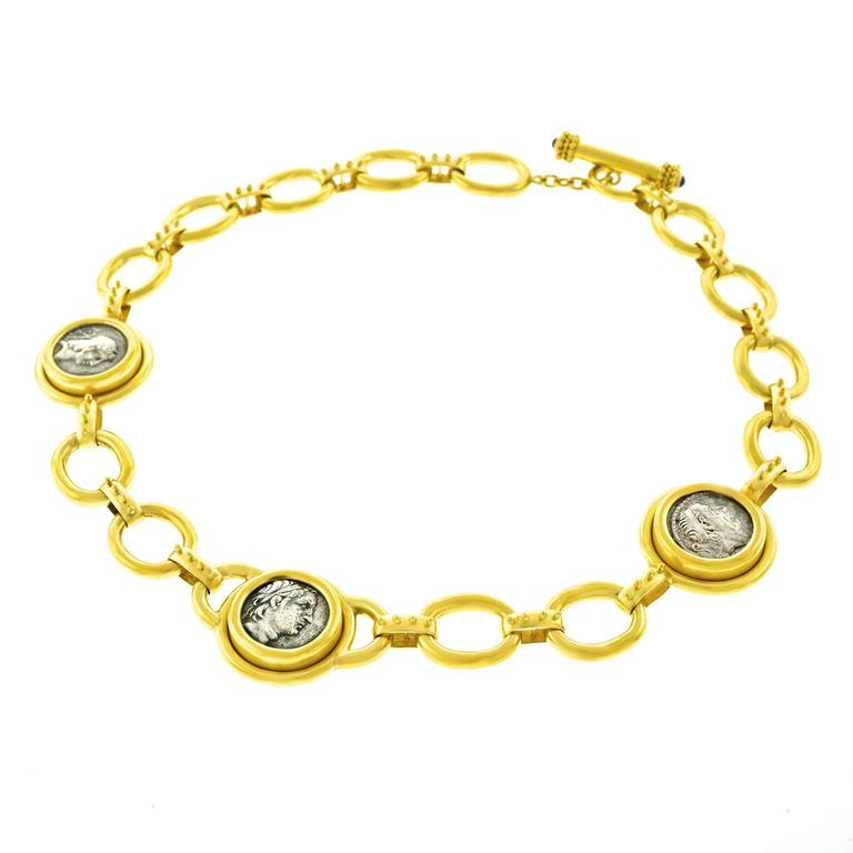 Elizabeth Locke Ancient Coin Gold Necklace 3