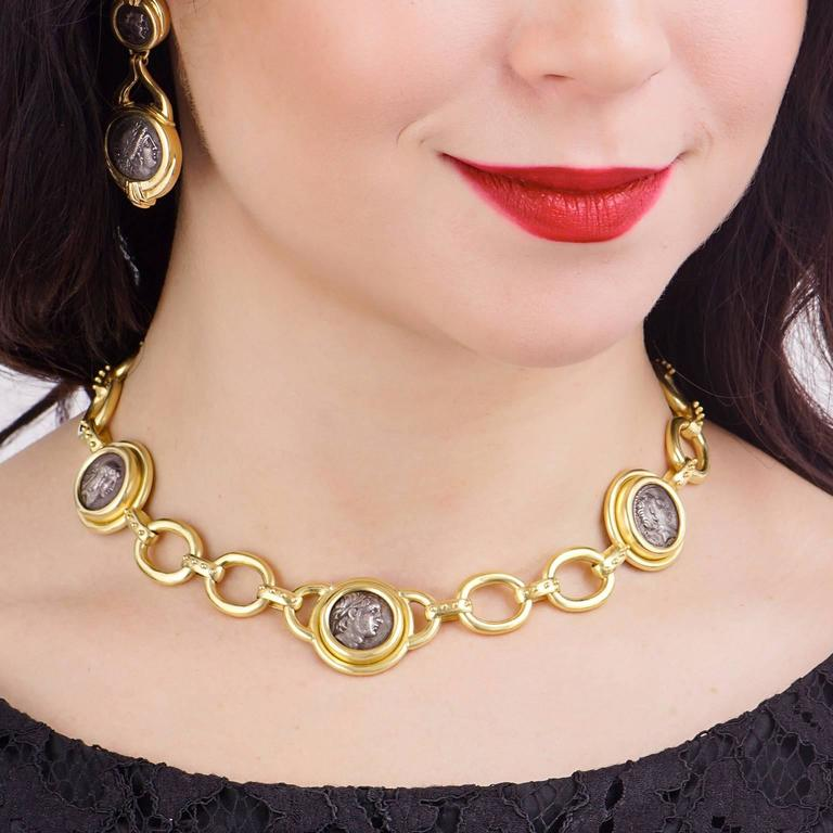 Elizabeth Locke Ancient Coin Gold Necklace 4