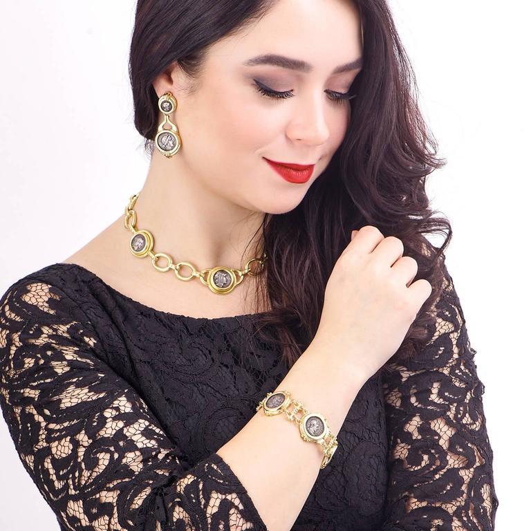 Elizabeth Locke Ancient Coin Gold Necklace 8