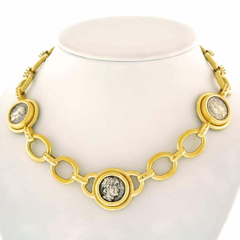 Elizabeth Locke Ancient Coin Gold Necklace 9