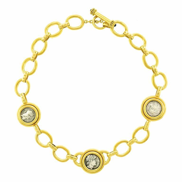 Elizabeth Locke Ancient Coin Gold Necklace 10