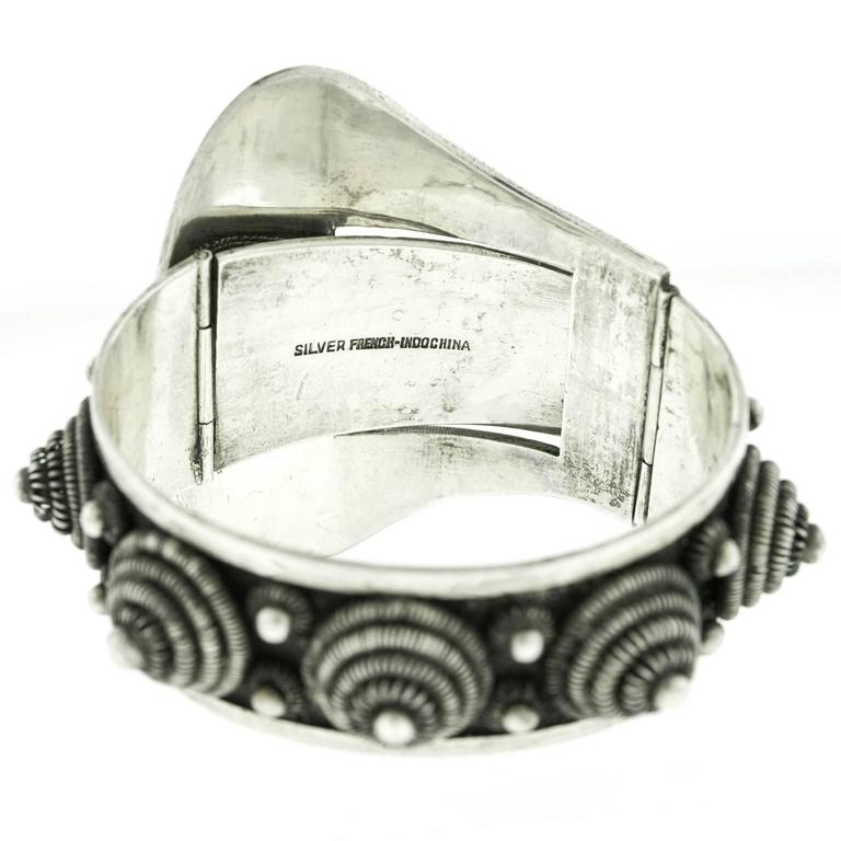 Fabulous Art Deco French-Indochina Sterling Bracelet For Sale 1