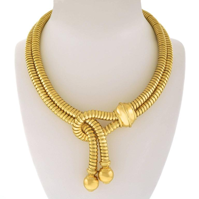 Weingrill for Ugo Piccini Gold Tubogas Lariat Necklace 3