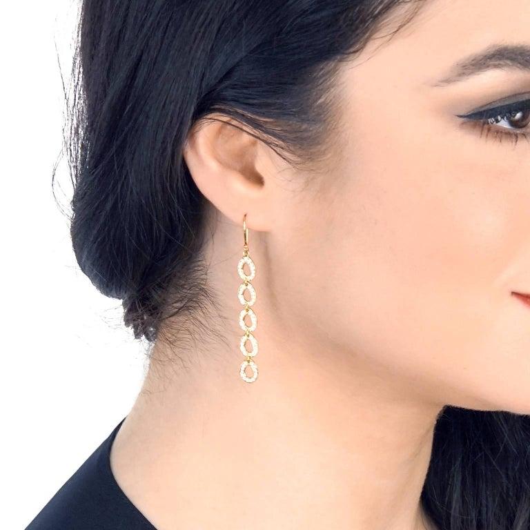 Ippolita Diamond Set Gold Chandelier Earrings At 1stdibs